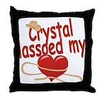 Crystal Lassoed My Heart Throw Pillow