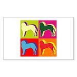 Saint Bernard Silhouette Pop Art Sticker (Rectangl