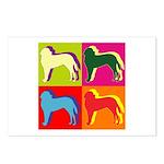 Saint Bernard Silhouette Pop Art Postcards (Packag