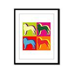 Saint Bernard Silhouette Pop Art Framed Panel Prin