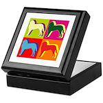 Saint Bernard Silhouette Pop Art Keepsake Box