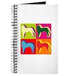 Saint Bernard Silhouette Pop Art Journal
