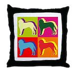 Saint Bernard Silhouette Pop Art Throw Pillow