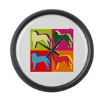 Saint Bernard Silhouette Pop Art Large Wall Clock