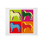 Saint Bernard Silhouette Pop Art Throw Blanket