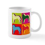 Saint Bernard Silhouette Pop Art Mug