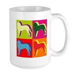 Saint Bernard Silhouette Pop Art Large Mug