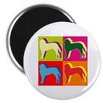 Saint Bernard Silhouette Pop Art Magnet