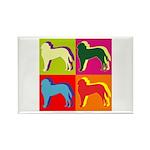 Saint Bernard Silhouette Pop Art Rectangle Magnet