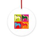 Saint Bernard Silhouette Pop Art Ornament (Round)