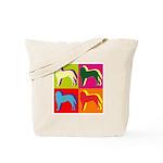 Saint Bernard Silhouette Pop Art Tote Bag