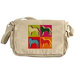 Saint Bernard Silhouette Pop Art Messenger Bag