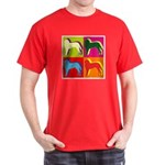 Saint Bernard Silhouette Pop Art Dark T-Shirt