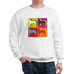 Saint Bernard Silhouette Pop Art Sweatshirt
