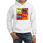 Saint Bernard Silhouette Pop Art Hooded Sweatshirt