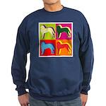 Saint Bernard Silhouette Pop Art Sweatshirt (dark)