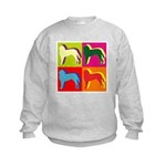 Saint Bernard Silhouette Pop Art Kids Sweatshirt