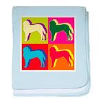 Saint Bernard Silhouette Pop Art baby blanket