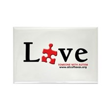 Love Someone with Autism Rectangle Magnet