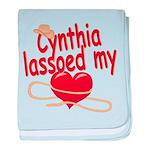 Cynthia Lassoed My Heart baby blanket