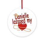 Danielle Lassoed My Heart Ornament (Round)