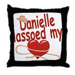 Danielle Lassoed My Heart Throw Pillow