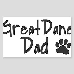 Great Dane DAD Sticker (Rectangle)