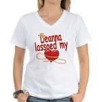 Deanna Lassoed My Heart Women's V-Neck T-Shirt