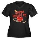 Deanna Lassoed My Heart Women's Plus Size V-Neck D