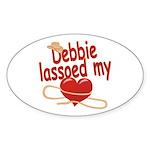 Debbie Lassoed My Heart Sticker (Oval)