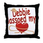 Debbie Lassoed My Heart Throw Pillow