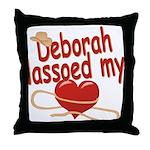 Deborah Lassoed My Heart Throw Pillow