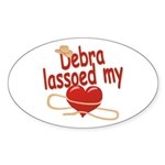 Debra Lassoed My Heart Sticker (Oval)