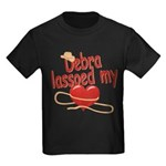 Debra Lassoed My Heart Kids Dark T-Shirt