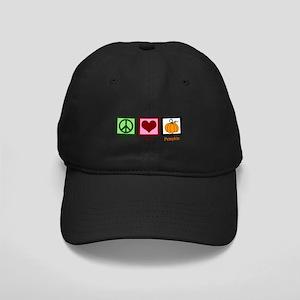Peace Love Pumpkin Black Cap