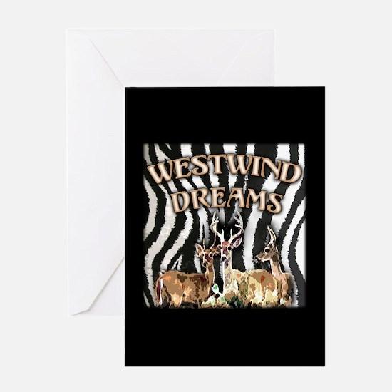 Cool Zebra dreams Greeting Card