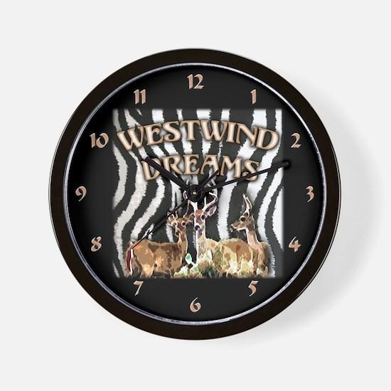 Cute Zebra dreams Wall Clock