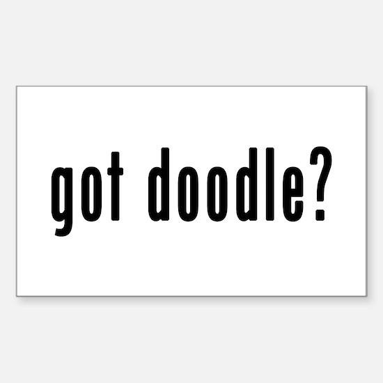 GOT DOODLE Sticker (Rectangle)