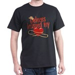 Delores Lassoed My Heart Dark T-Shirt