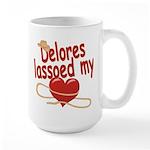 Delores Lassoed My Heart Large Mug