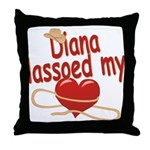 Diana Lassoed My Heart Throw Pillow