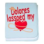 Dolores Lassoed My Heart baby blanket
