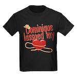 Dominique Lassoed My Heart Kids Dark T-Shirt