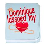 Dominique Lassoed My Heart baby blanket