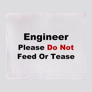Engineer: Please Do Not Feed Throw Blanket