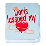 Doris Lassoed My Heart baby blanket