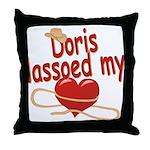 Doris Lassoed My Heart Throw Pillow