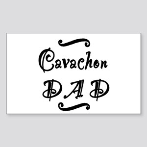 Cavachon DAD Sticker (Rectangle)
