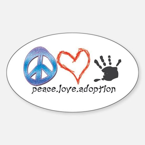 Funny Adoption Sticker (Oval)