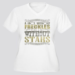 A Face Without Freckles (Typography) Women's Plus